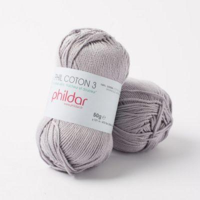 Phildar coton 3 1462 silver
