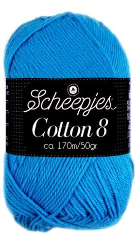 Scheepjes cotton 8 563 aqua blauw