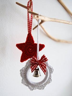Haakpatroon kerstster en kerstkrans-0