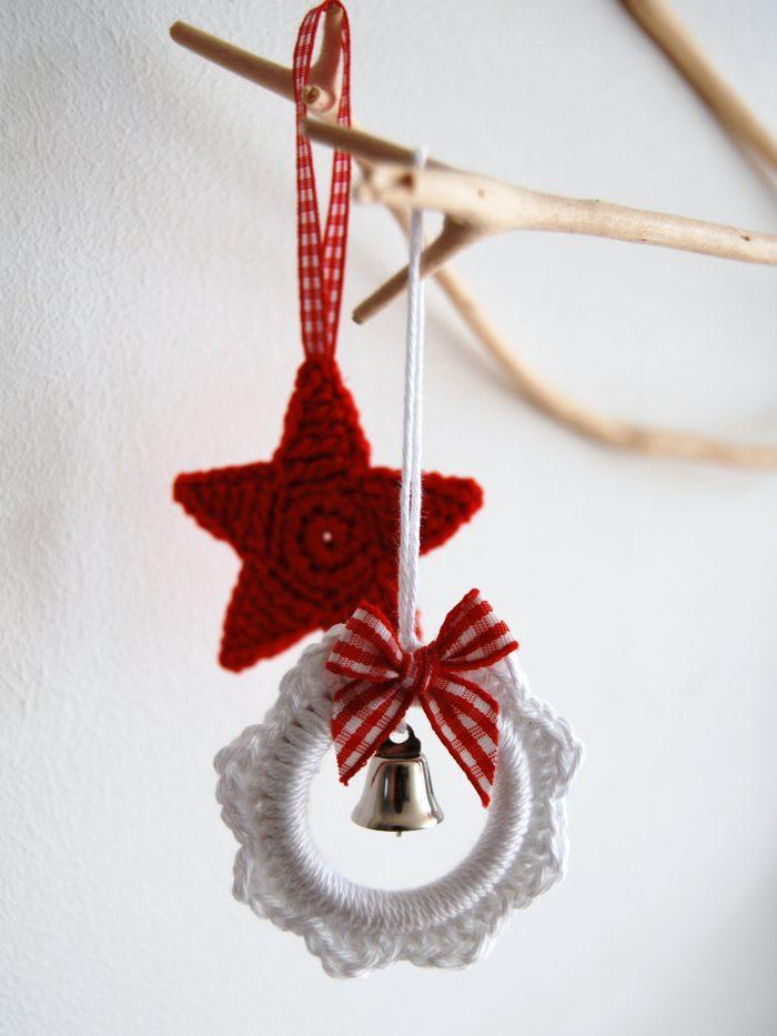 Haakpakket kerstkrans en ster-0
