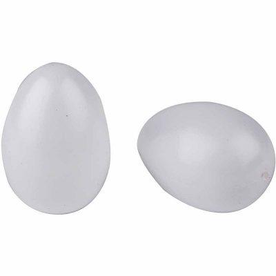 Eieren plastic wit 6cm 10 stuks-0