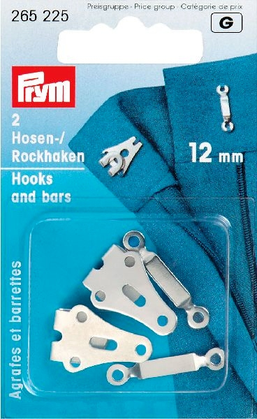 Prym Broek/rokhaak zilverkleurig 12mm