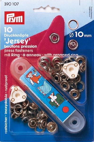 Prym Jersey 10mm nikkel