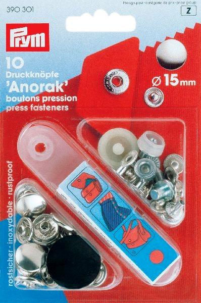 Prym Anorak 15mm nikkel