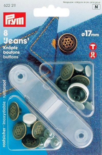 Prym Jeansknoop Bloem 17mm