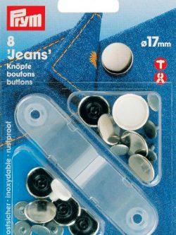 Prym Jeansknoop zilver/glad 17mm