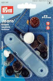 Prym Jeansknoop oudkoper lauwerkrans 17mm
