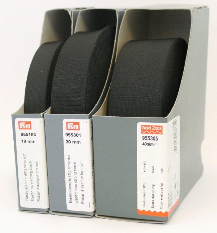 Prym Band-elastiek sterk 30mm zwart 10m