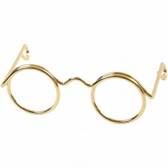 Brilletje goudkleurig 25mm