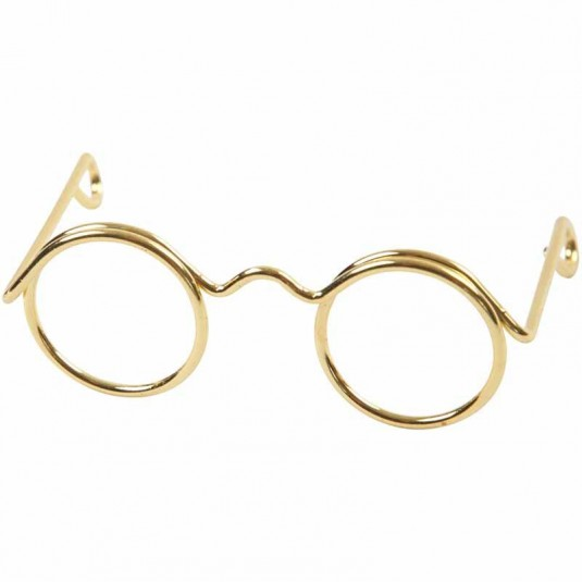 Brilletje goudkleurig 60mm