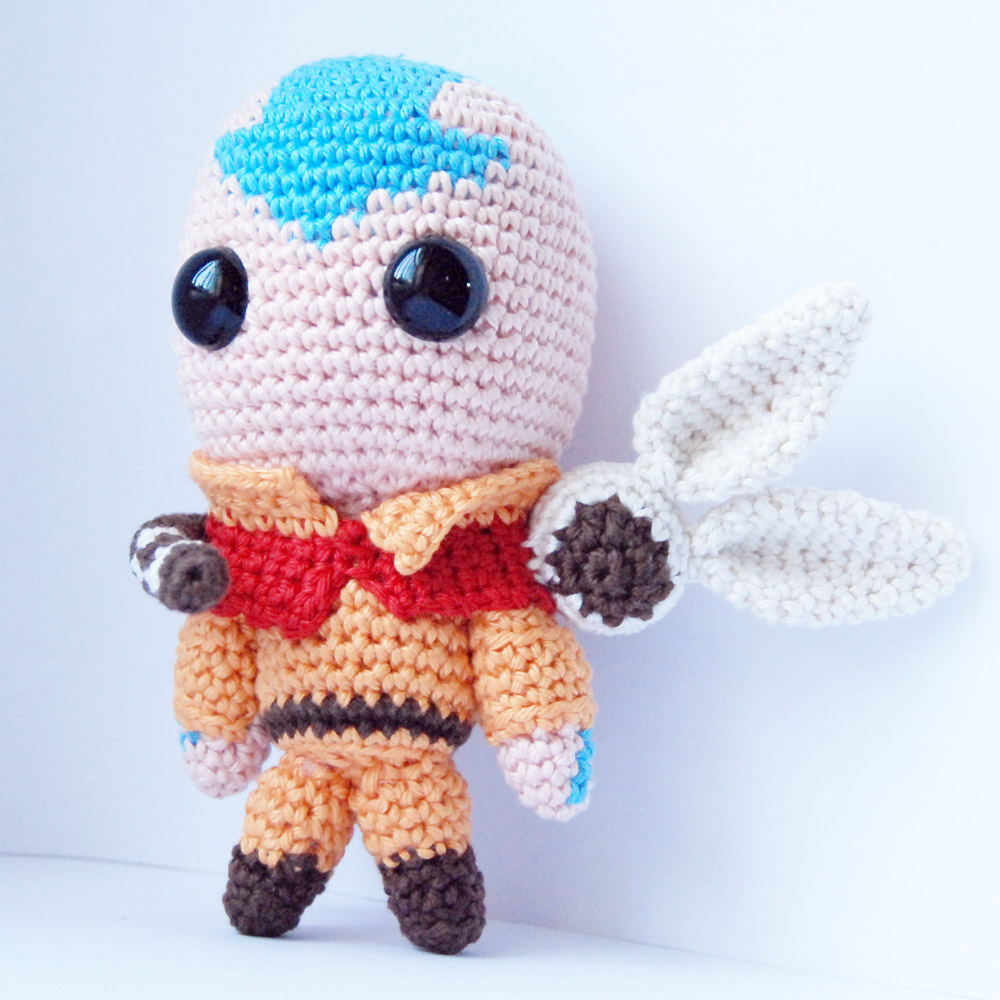 Free amigurumi pattern Aang and Momo