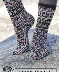 Gratis breipatroon Moonflower socks-0