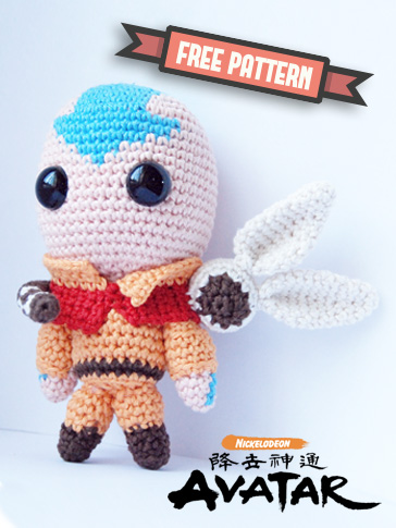 Free pattern – Aang from Nickelodeon's Avatar the last Airbender-0
