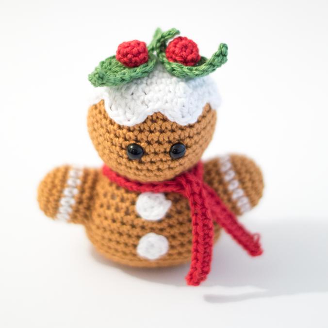 Free Amigurumi Gingerbread Man Bust