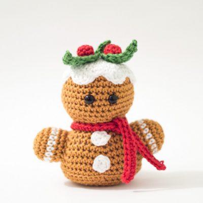 Free Amigurumi Gingerbread Man Bust-0