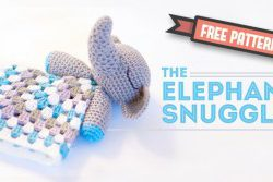 The snuggle blanket for this Elephant snuggle is a basic granny square