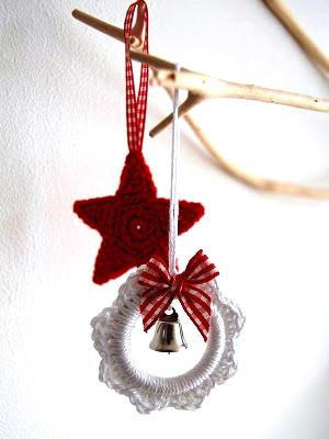 Haakpatroon kerstster en kerstkrans