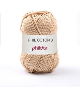 Phildar coton 3 1192 seigle