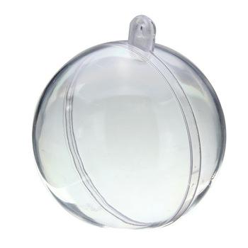 Kerstbal deelbaar transparant 80mm-0
