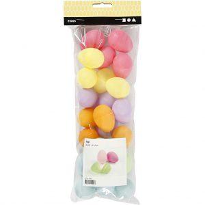 Eieren plastic gekleurd 4,5 cm 24 stuks-6569