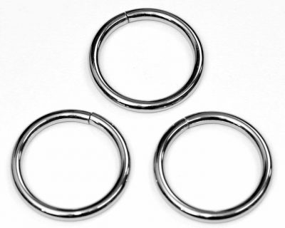 Metalen O-ring zilverkleuring zwaar 38mm