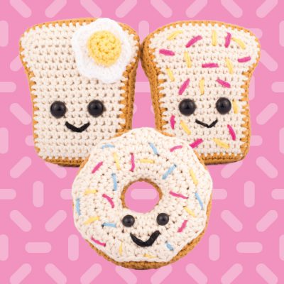 Amigurumi sandwich and donut
