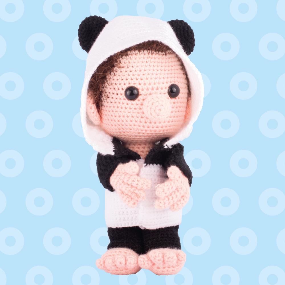 Amigurumi Dendennis panda hoodie