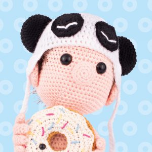 Amigurumi Dendennis panda hat