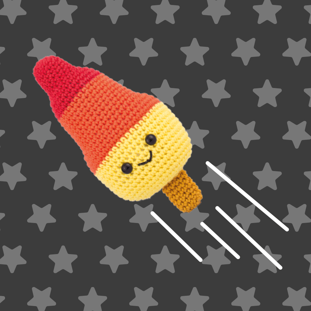 Amigurumi Ice rocket