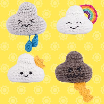 Amigurumi clouds
