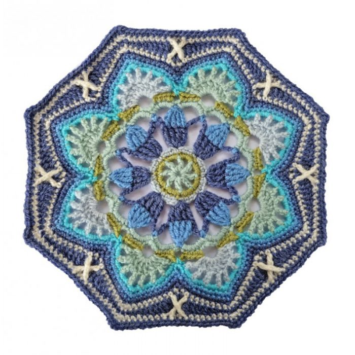 Haakpakket Persian Tiles light blue met Stylecraft Life DK-0
