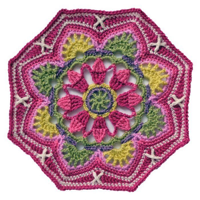 Haakpakket Persian Tiles Pink met Stylecraft Life DK-0