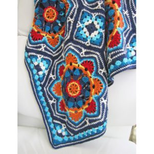 Haakpakket Persian Tiles light blue met Stylecraft Life DK-7983