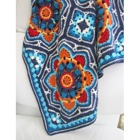 Haakpakket Persian Tiles light blue met Stylecraft Life DK-7983