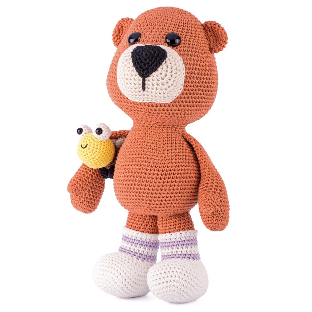 Materiaal Reuze teddybeer en maanbij-0