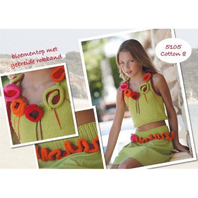 gratis breipatroon 5105 meisjestop en rokband