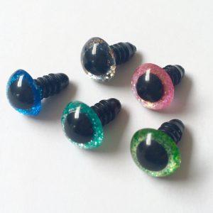 Ogen sparkle blauw per paar-9836