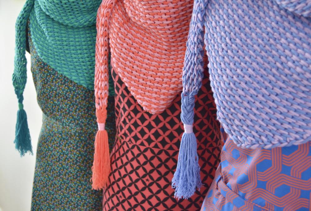 Haakpakket ByClaire ton sur ton sjaal lila denim-10343