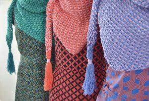 Haakpakket ByClaire ton sur ton sjaal jade emerald-10345