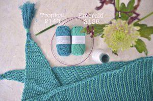 Haakpakket ByClaire ton sur ton sjaal lila denim-10313