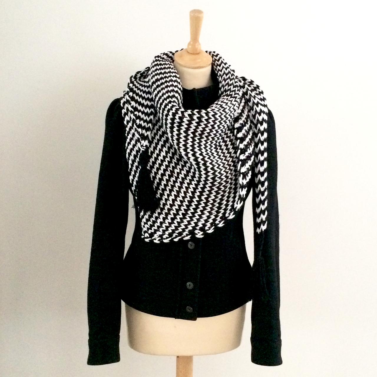 Haakpakket zebra sjaal-0