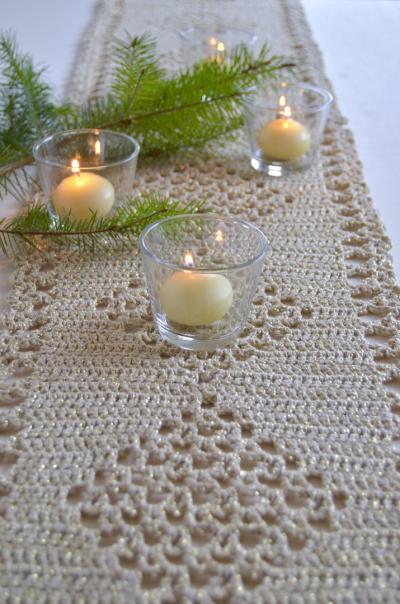 Haakpakket sparkle tafelloper