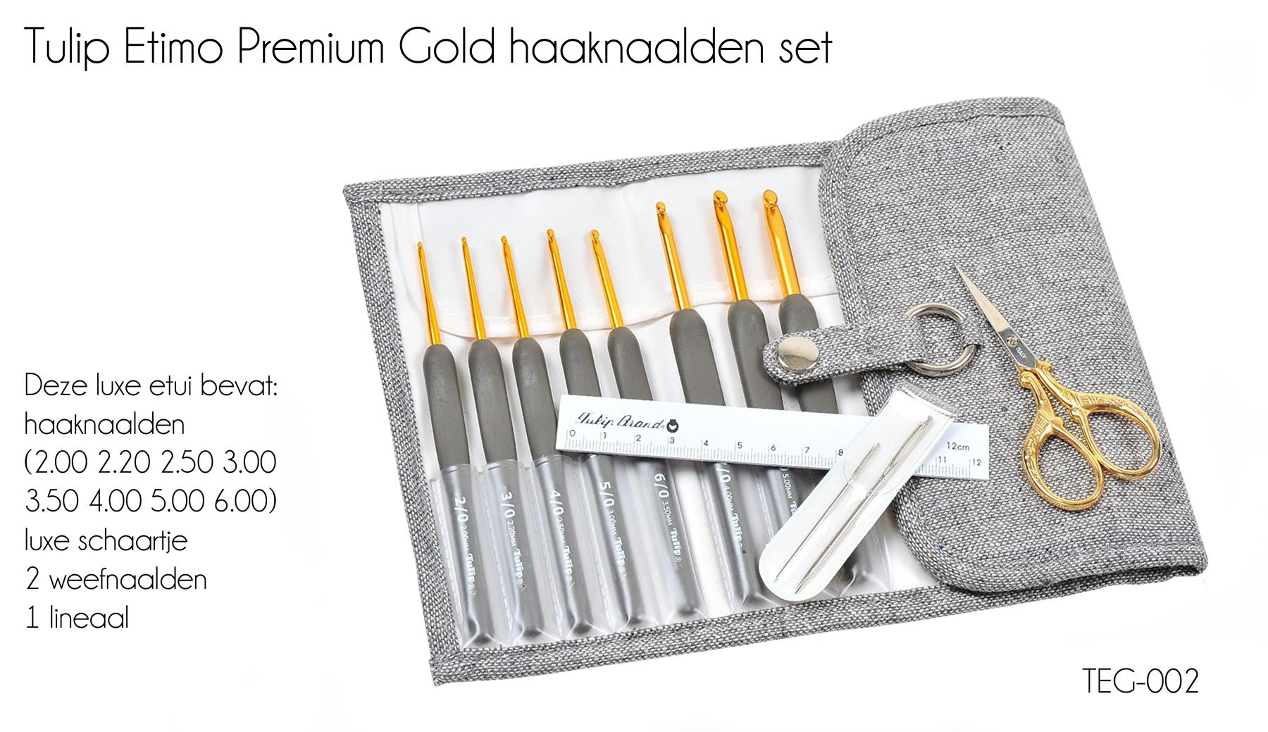 TULIP ETIMO PREMIUM GOLD HAAKNAALDEN SET