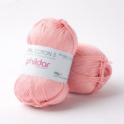 Phildar coton 3 1092 rose saumon