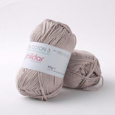 Phildar coton 3 1094 taupe