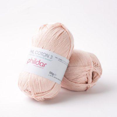 Phildar coton 3 1136 lait de rose