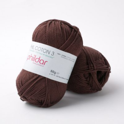 Phildar coton 3 1164 marron