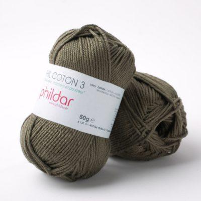 Phildar coton 3 1419 militaire