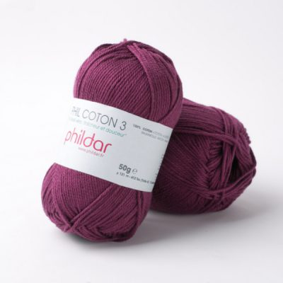 Phildar coton 3 1420 prune