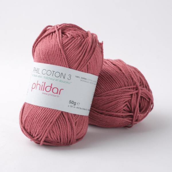 Phildar coton 3 1460 rosewood
